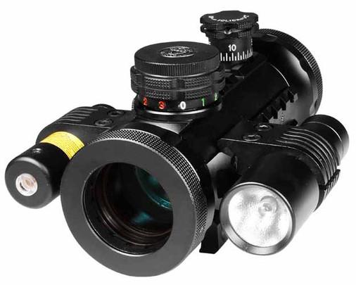 BSA Optics Illuminated Red/Green/Blue Dot Sight, Laser & Flashlight, Weaver Mount