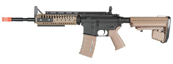 AandK M4 CASV RIS Full Metal Airsoft Rifle, Two-Tone Black and Tan- REFURBISHED