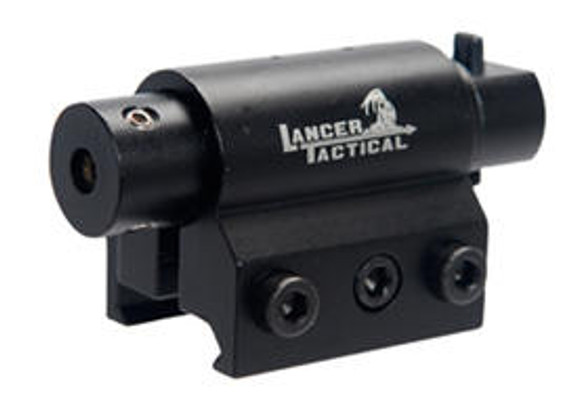 Lancer Tactical Red Mini Laser with Weaver Mount
