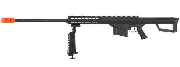 Lancer Tactical M82 .50-Cal Spring Airsoft Sniper Rifle w/ Bipod, Black