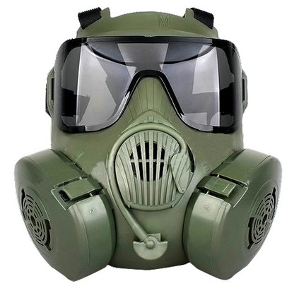 CBRN Style EM50 Green Mask with 2 Lenses