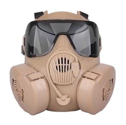 CBRN Style EM50 Tan Mask with 2 Lenses