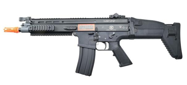 FN Herstal SCAR-L Airsoft Metal/Polymer AEG Rifle, Black