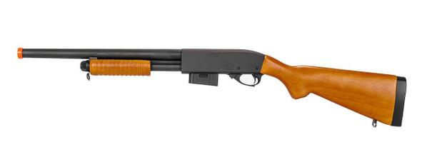 AandK M870 Real Wood Spring-Powered Metal Shotgun