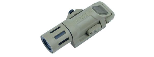 Low-Profile Weapon Mounted Strobe Flashlight, FDE
