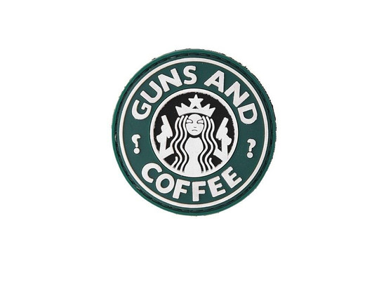 Guns And Coffee PVC Velcro Patch