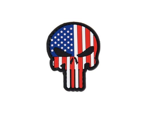 USA Punisher Skull PVC Velcro Patch