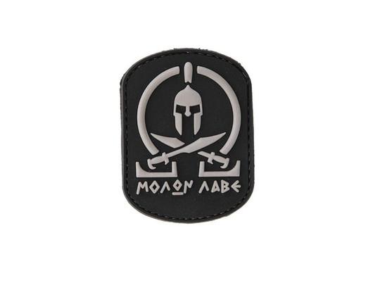 Molon Labe Spartan Black and White PVC Velcro Patch