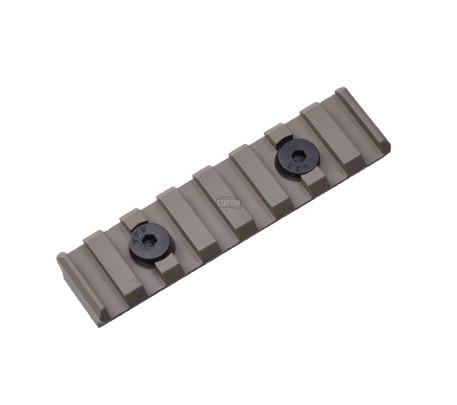 UTG PRO M-LOK 8-Slot Picatinny/Weaver/20mm Rail Section for Magpul MLOK Rails, Tan