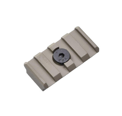 UTG PRO M-LOK 4-Slot Picatinny/Weaver/20mm Rail Section for Magpul MLOK Rails, Tan
