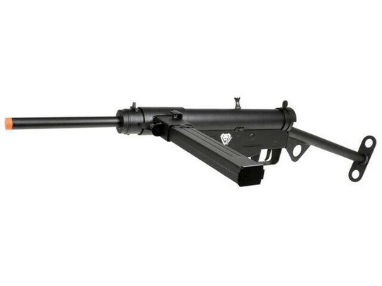 AGM P-Force WWII British Sten Full Metal AEG Airsoft Rifle Kit, Black
