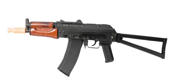 SRC AK74U Krinkov Real Wood and Full Metal Gas Blowback Airsoft Rifle