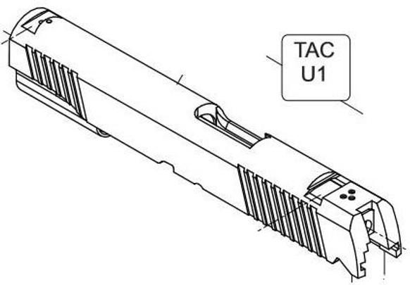 Elite Force/KWC 1911 TAC CO2 Blowback Airsoft Pistol Slide