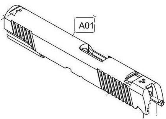 Elite Force/KWC 1911 A1 CO2 Blowback Airsoft Pistol Slide