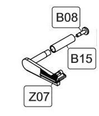 Elite Force/KWC 1911 CO2 Blowback Airsoft Pistol Copmlete Slide Catch Assembly