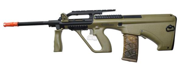 Steyr AUG A2 AEG Airsoft Rifle, Proline Tan Bullpup by ASG