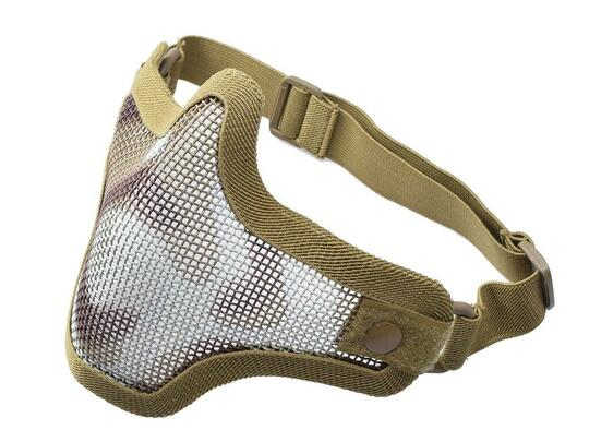 Amp Tactical Mesh Half Mask, Desert Camo, Single Strap