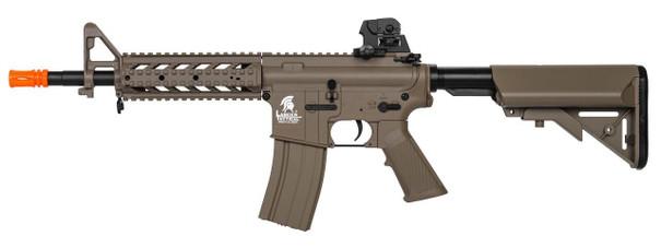 Lancer Tactical LT-23T CQB Quad RIS M4 Airsoft Rifle AEG, Tan