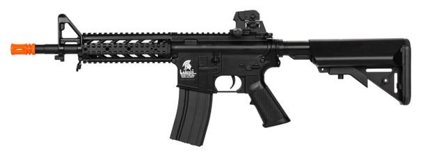 Lancer Tactical LT-23B CQB Quad RIS M4 Airsoft Rifle AEG, Black