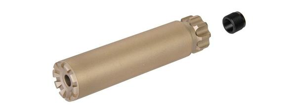 Specter F35X152MM Style Aluminum Mock Silencer, 14mm CCW - Tan