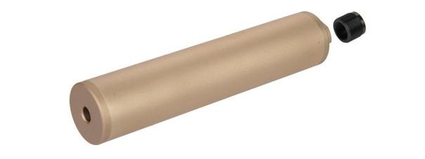 Octane-I F38x190.5MM Style Aluminum Mock Silencer, 14mm CCW - Tan