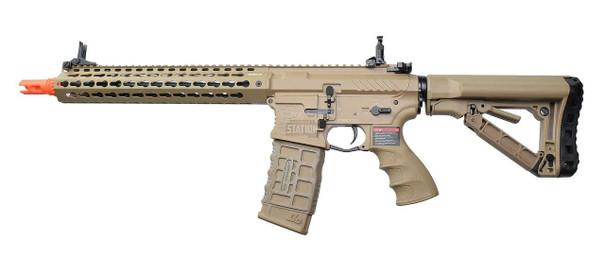 GandG CM16 SRXL 12 Keymod Airsoft DMR AEG Rifle, FDE/Tan