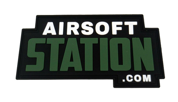 Official Airsoft Station Velcro PVC Patch, OD/Black