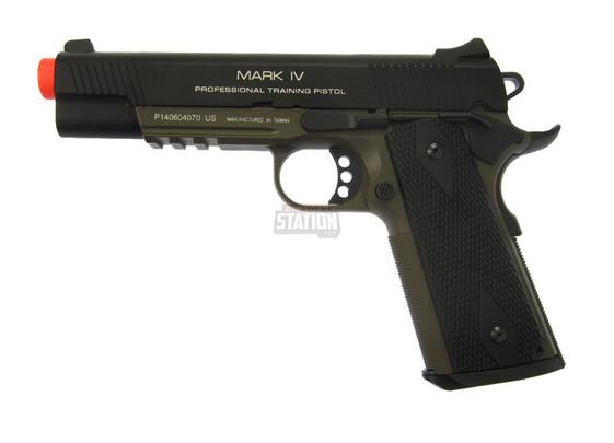 KWA M1911 MK IV PTP OD Green Gas Blowback NS2 Airsoft Pistol