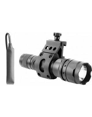 AIM Sports Tactical Flashlight w/ Offset Mount, 500 Lumens, Black