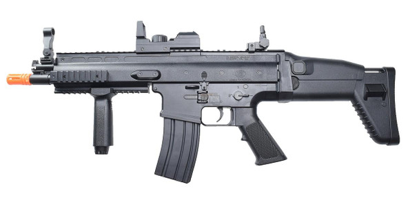 FN Herstal Entry Level SCAR Electric LPEG Airsoft Rifle w/ Red Dot Sight, Black