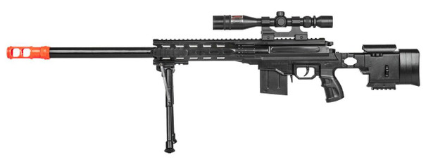 P2589 Plastic Railed Spring Sniper Rifle, Black