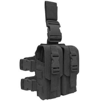Condor Drop Leg Double M4 Mag Pouch, Black