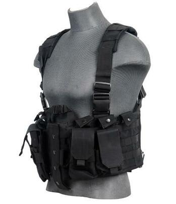 Lancer Tactical Nylon M4 Chest Harness, Black