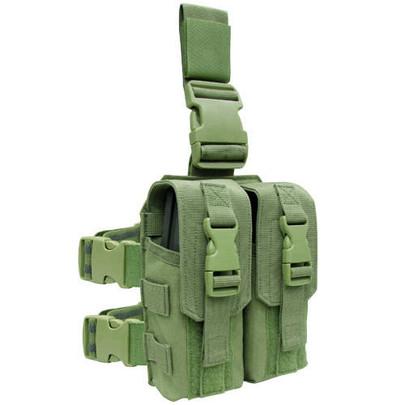 Condor Drop Leg Double M4 Mag Pouch, OD Green