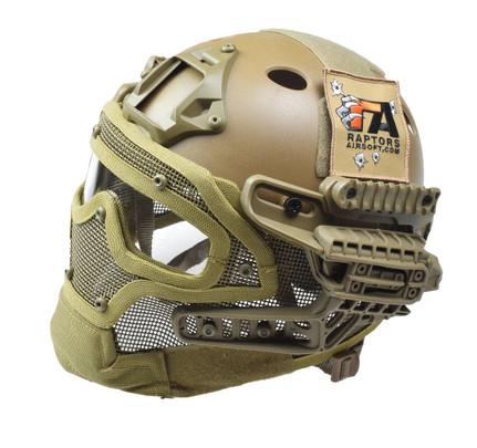 RTQ G4 System PJ Helmet and Full Mask, FDE/Tan