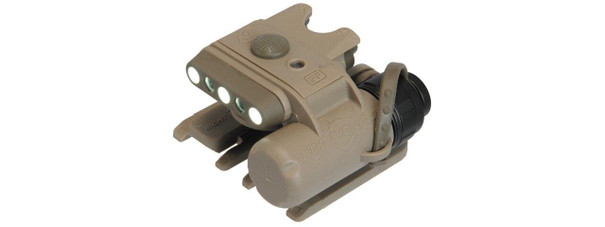 Lancer Tactical Night Evolution Modular Helmet Light, Tan/Dark Earth