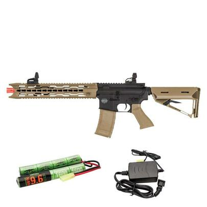 Valken Battle Machine AEG V2.0 TRG-L Black/FDE Tan w/ Battery and Charger