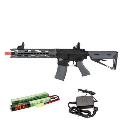 Valken Battle Machine AEG V2.0 TRG-M Carbine, Black/Grey / Battery and Charger