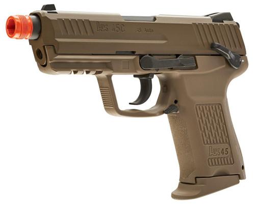 HandK45CT Compact Gas Blowback Airsoft Pistol, Tan