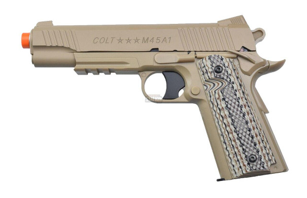 COLT M45A1 CO2 Powered M1911 Airsoft Pistol, Tan