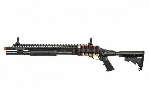 JAG Arms Scattergun SP Gas Powered LE Stock Tactical Shotgun, Black