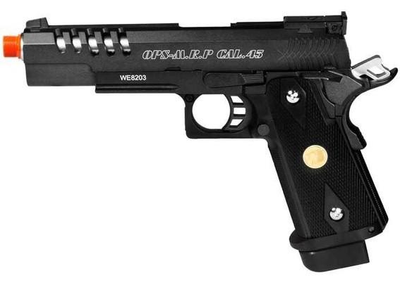 WE Hi-Capa 5.1 K Full Metal Airsoft Gas Pistol, Black