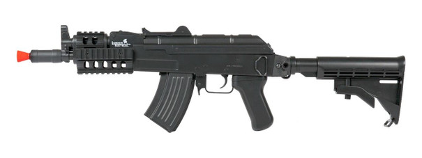 Lancer Tactical AKS-74U RIS AEG Airsoft Rifle, Black