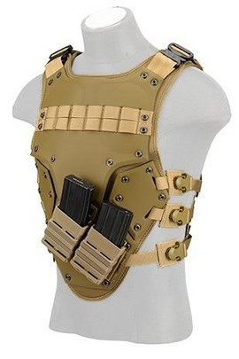 TF3 High Speed Airsoft Body Armor, Tan