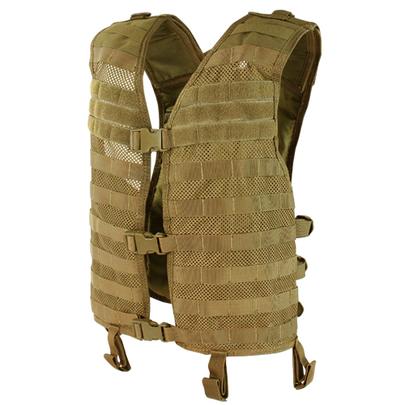 Condor MOLLE Mesh Hydration Tactical Vest, Coyote