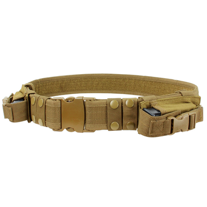 Condor Tactical Belt with Dual Pistol Mag Pouches, Coyote