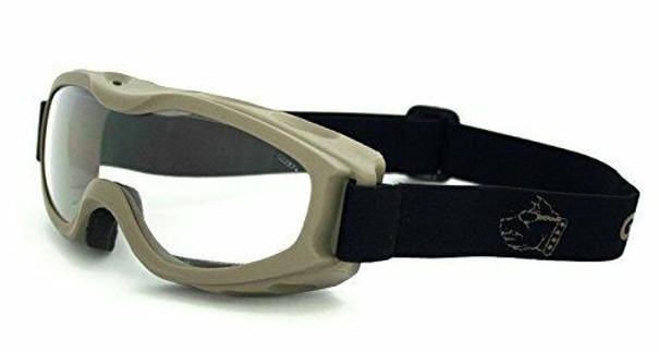 GOGGS Evader II Over-RX Goggles w/ Fogstopper, Clear Lens, Dark Earth Frame