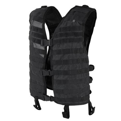 Condor MOLLE Mesh Hydration Tactical Vest, Black