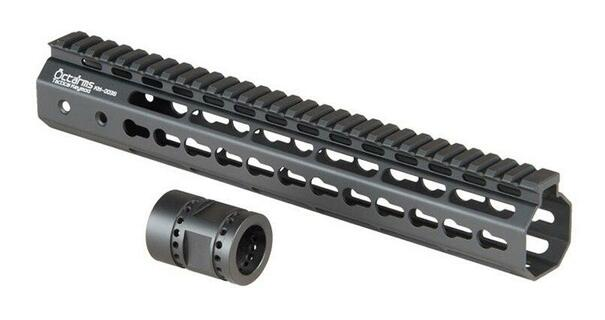Ares Metal Keymod Handguard, 12 Inch, Black