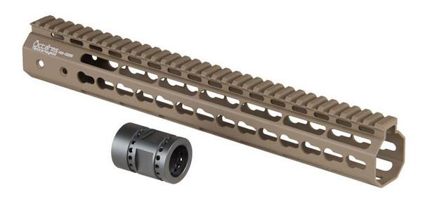 Ares Metal Keymod Handguard, 13.5 Inch, Dark Earth